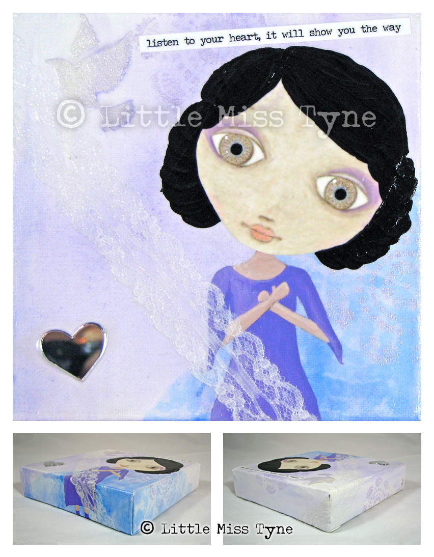 Little Miss Tyne Painting - Listen to Your Heart