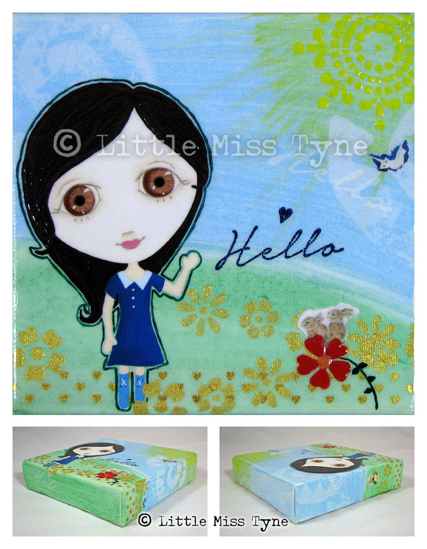 Little Miss Tyne Painting - Hello Bunnies