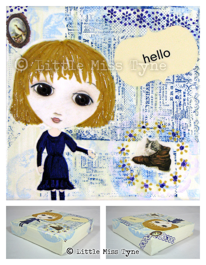 Little Miss Tyne Painting - Hello Kitten