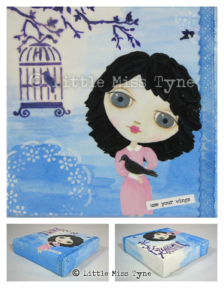 Little Miss Tyne Painting - Use Your Wings