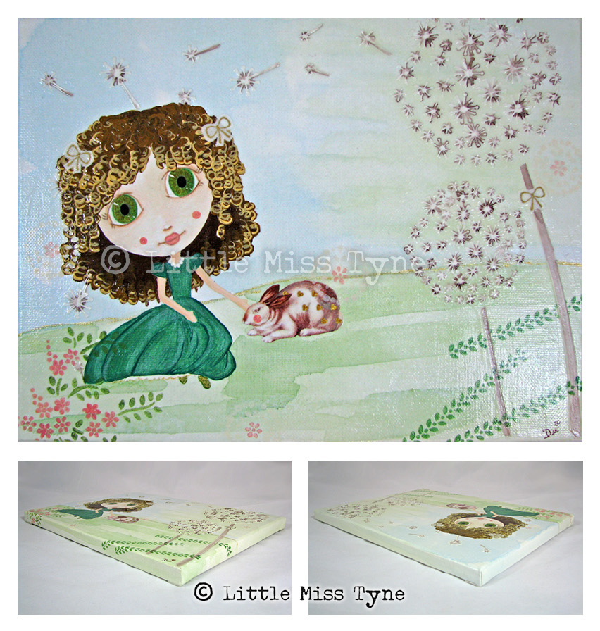 Little Miss Tyne Painting - Dandelion Afternoon