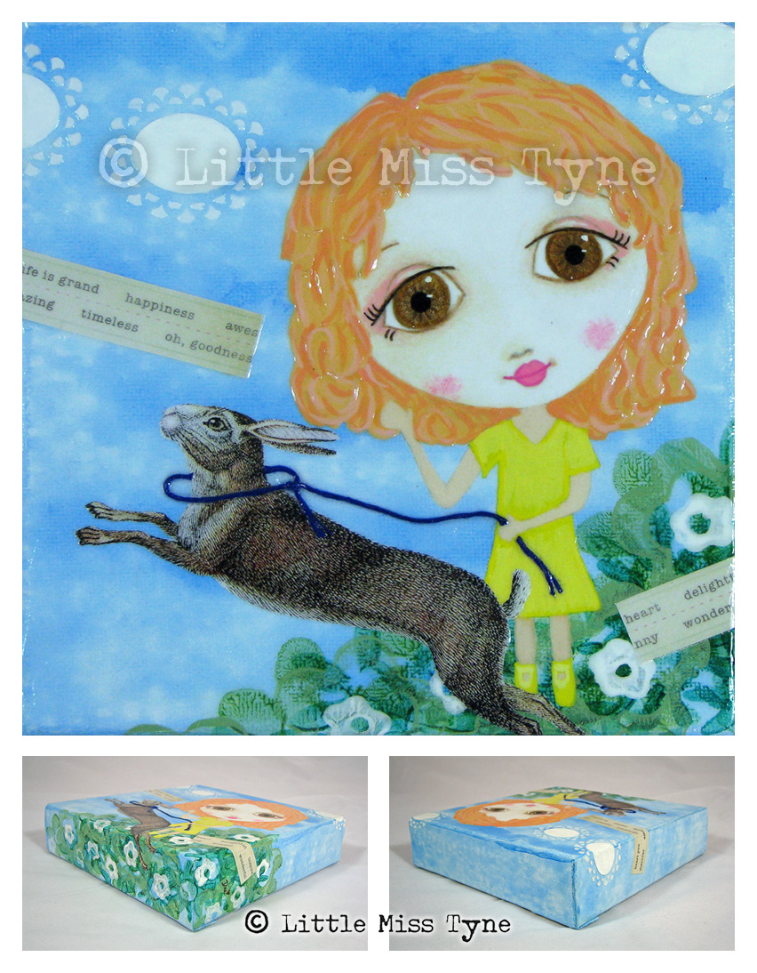 Little Miss Tyne Painting - Life is Grand
