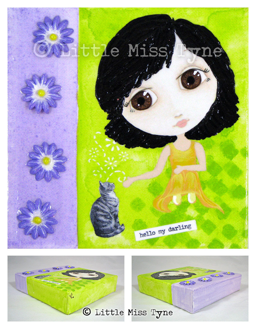 Little Miss Tyne Painting - Hello My Darling