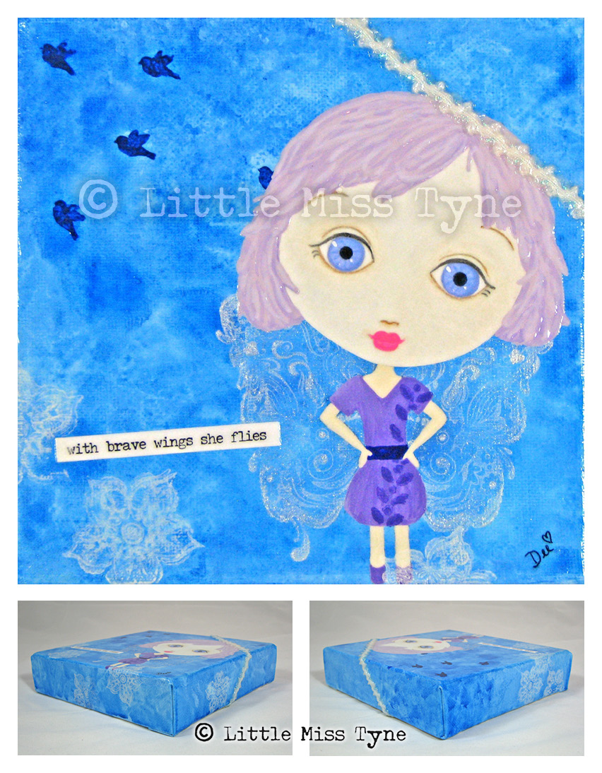 Little Miss Tyne Painting - With Brave Wings