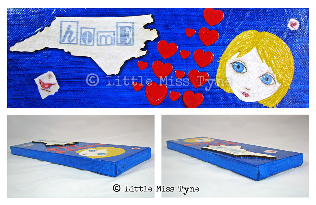 Little Miss Tyne Painting - I Heart North Carolina